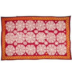 Mid-20th Century Uzbek Samarkand All Cotton Suzani
