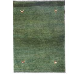 Gabbeh Rugs, Contemporary Persian Green Carpet