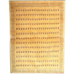 Small Patterned Rug, Gabbeh Rugs, Contemporary Persian Yellow Carpet