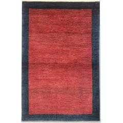 Persian Red Rugs, Plain Gabbeh Rugs, Carpet from Iran