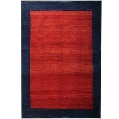 Persian Shinny Red Rugs, Plain Gabbeh Rugs, Carpet from Iran