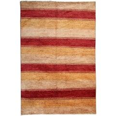 Fine Carpet Contemporary Multi Modern Striped Design Rug
