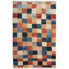 Fine Contemporary Rugs, Modern Carpet, Plaid Design Afghan Rugs