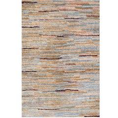 Modern Rug Fine Contemporary Stripped Rug, Hand Woven Carpet Organic Wool