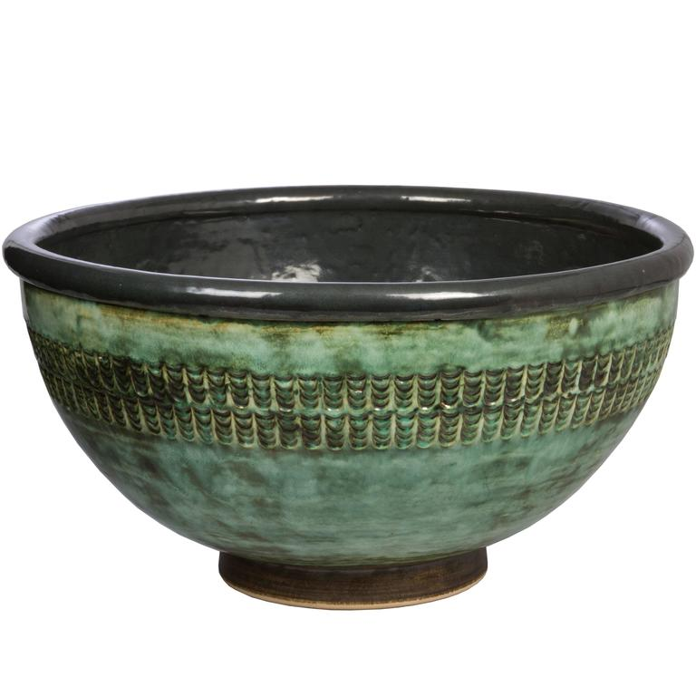 Very Large Studio Ceramic Bowl At 1stdibs