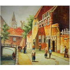 """Old Amsterdam"" Painting"