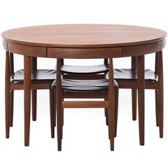 Danish Modern Roundette Dining Table and Chairs