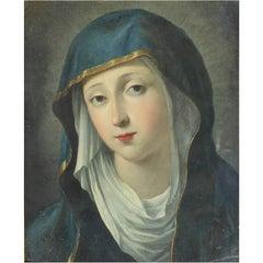 "Italian Old Master Oil Painting ""Madonna"""