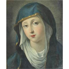 "Painting,  Italian Old Master Oil Painting ""Madonna"""