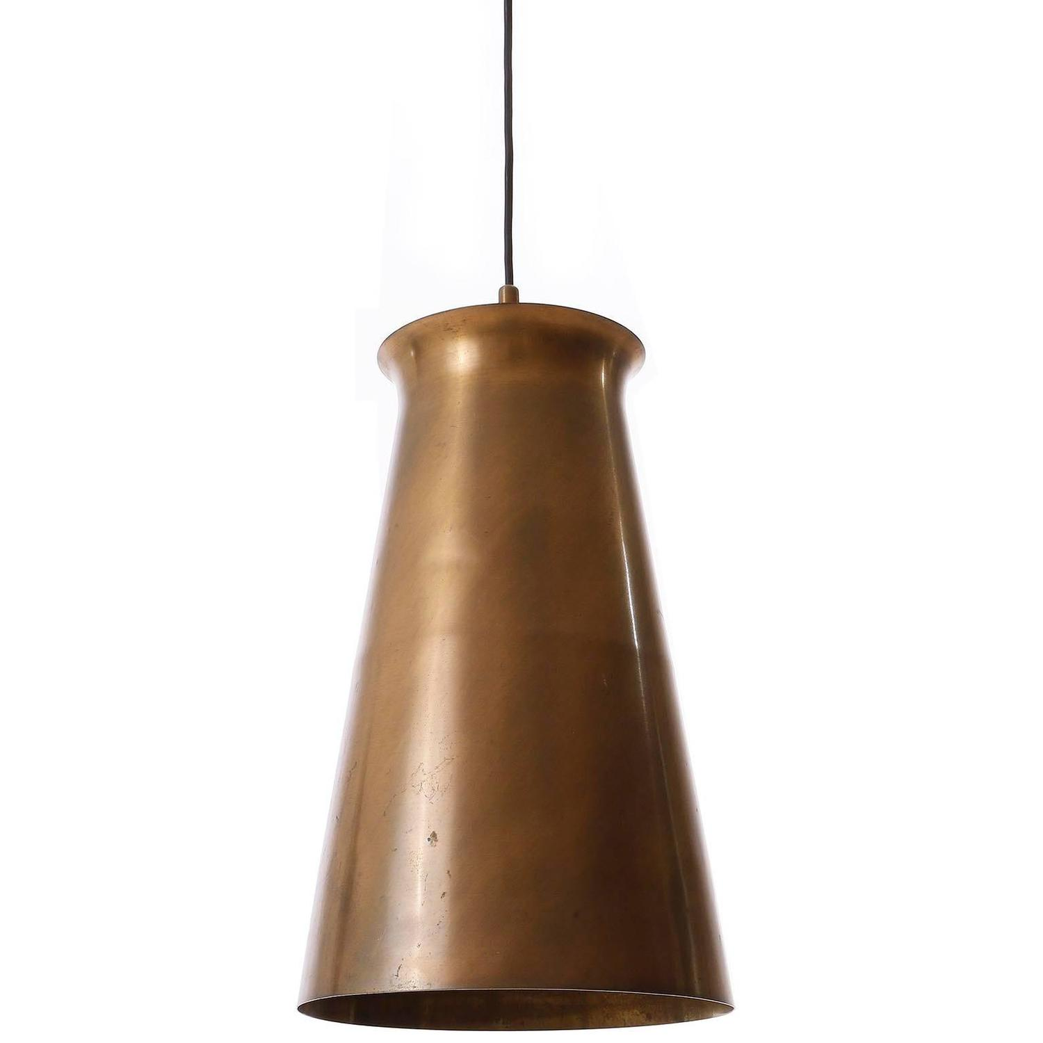 large patinated brass pendant light 1950s for sale at 1stdibs