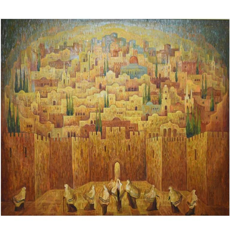 Jerusalem oil painting by russian israli artist marina for Israeli artists oil paintings
