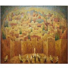 Jerusalem, Oil Painting by Russian Israli Artist Marina Grigoryan