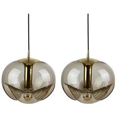 One of Two Extra Large Biomorphic Pendant Lights for Peill & Putzler, circa 1970