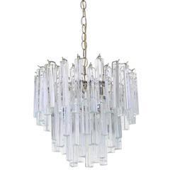 Medium Size Venini Glass Prisms Camer Light Fixture