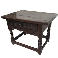 18th Century Spanish Walnut Side Table