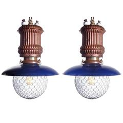 Matching Pair of Early Westinghouse Street Lamps