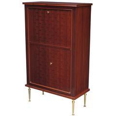 Fine Jules Leleu Designed Modernist Bar Cabinet