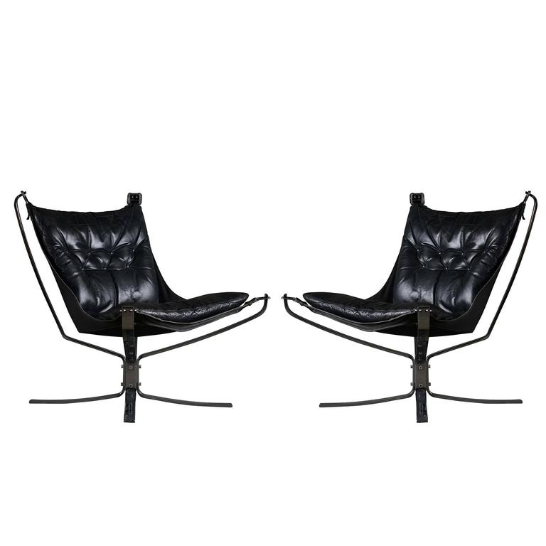 Pair of Sigurd Ressell Falcon Chairs