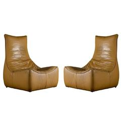 "Gerard Van Den Berg Pair of ""The Rock"" Lounge Chairs"