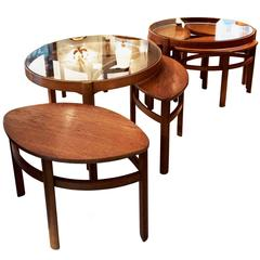 Pair of Round Nesting Tables by Nathan