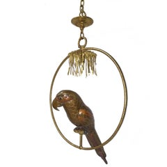 Metal Brass Copper Bird Chandelier