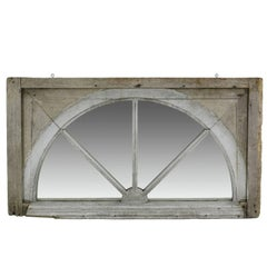 18th Century Georgian Wood Window Mirror