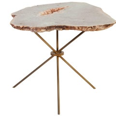 Rose Quartz Agate Side Table