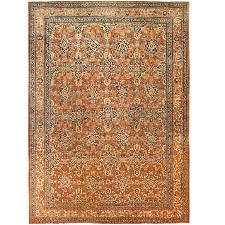 Persian Tabriz rug, ca. 1880, offered by Nazmiyal