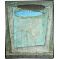 "Frank Bunts ""War Helmet"" Oil on Canvas"