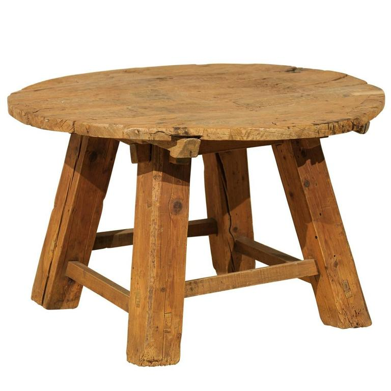 Delicieux Chinese Rustic Side Table Made Of Reclaimed Elmwood For Sale