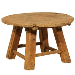 Chinese Rustic Side Table Made of Reclaimed Elmwood