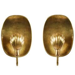 Pair of Brass Sconces by Firma Lars Holmström for Arvika