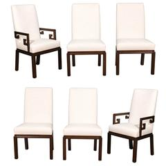 Rare Restored Set of Six Parsons Style Dining Chairs by Baker