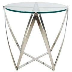 Aluminum Spool Lamp Table by John Vesey