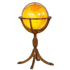 Traditional Floor Globe Lamp on Claw Base Pedestal