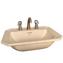 Sink with Vintage French Empire Style Swan Taps
