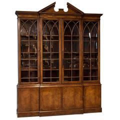 Georgian Style Breakfront Display Cabinet