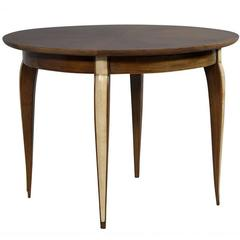 French Art Deco Occasional Table with Parchment Accents by Maison Dominique