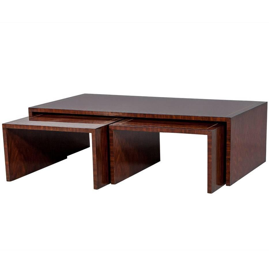 Ej victor mahogany nesting cocktail table at stdibs