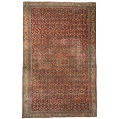 Antique Persian Farahan Rug with Jacobean Style, Palace Size Persian Rug