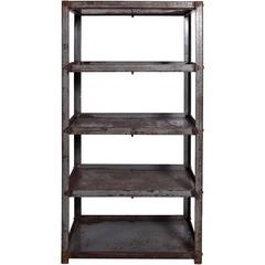 Early 20th Century Metal Shelves Salvaged from Textile Factory in England