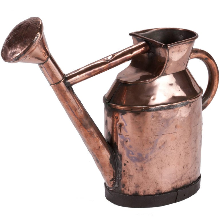 English Watering Can in Copper from mid-19th century For Sale