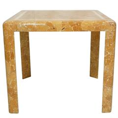 1960s Game Table Made of Horn Inlay by Enrique Garcel