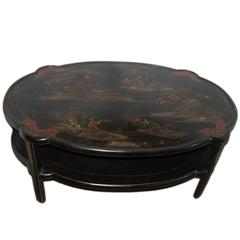 Chinoiserie Painted Coffee Table