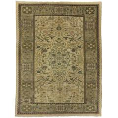 Antique Persian Sultanabad Area Rug with Neoclassical Style