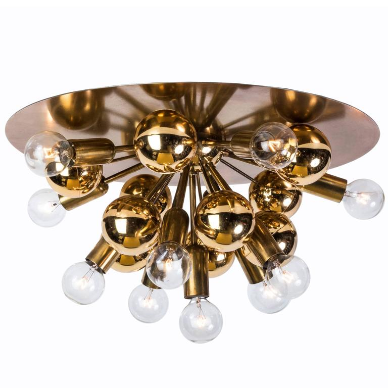 Exquisite Mid-Century German Sputnik Flush Mount or Sconce