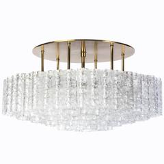 Gorgeous Mid-Century Modernist 1950s Flush Mount Chandelier