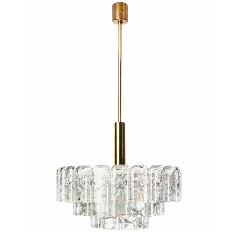 Gorgeous Mid-Century Modernist Chandelier by Doria