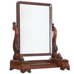 19th Century Early Victorian Mahogany Vanity Mirror