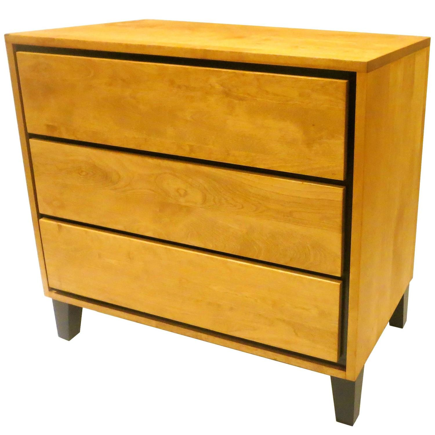 1950s American Modern Triple Drawer Dresser By Russel